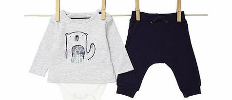 Bhs Boys Baby Boys Long Sleeved Bodysuit and Joggers