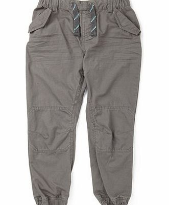 Bhs Boys Boys Grey Herringbone Pull On Trousers,