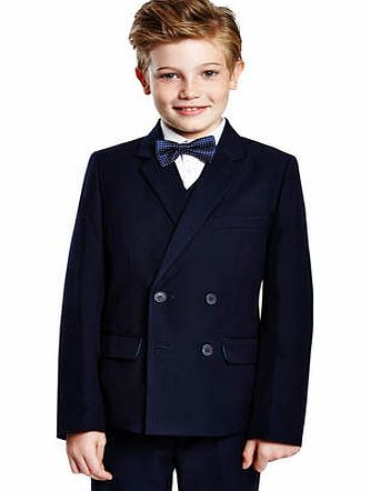 Boys Navy Marseille Double Breasted Suit Jacket,