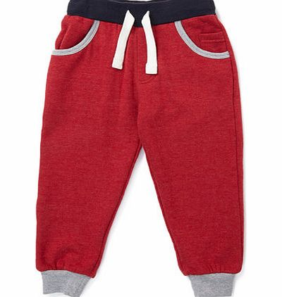 Boys Red Contrast Trim Joggers, red 1621363874