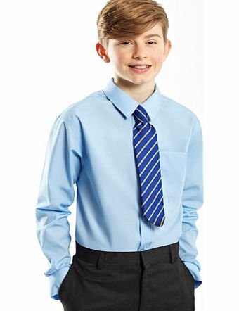 Boys Senior Boys 2 Pack Non-Iron School Shirts