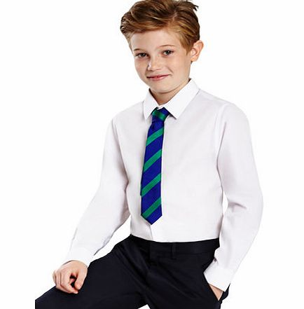 Boys Senior Boys 2 Pack Slim Fit Non-Iron School