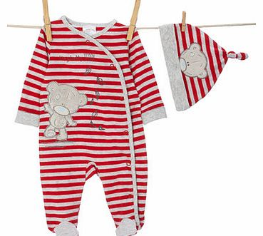 Bhs Boys Unisex Striped Tatty Teddy All In One