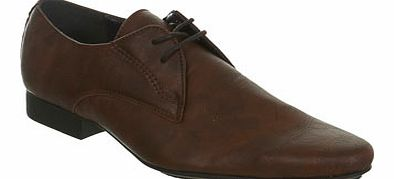 Brown Formal Pointed Shoe, BROWN BR79F01BBRN