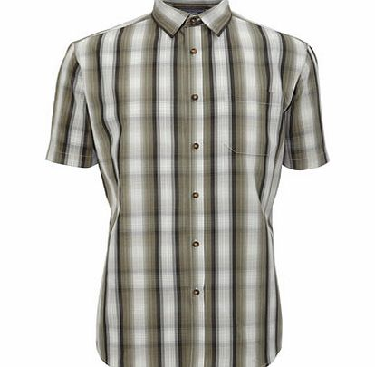 Brown Ombre Check Shirt, Brown BR51C16EBRN