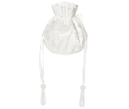 Butterfly ivory dolly bag