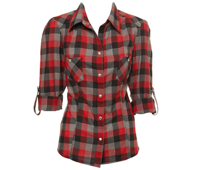 Check lumberjack red shirt