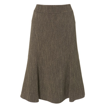 Chocolate textured suit skirt