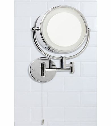 Chrome Apus mirror wall light, chrome 9776420409