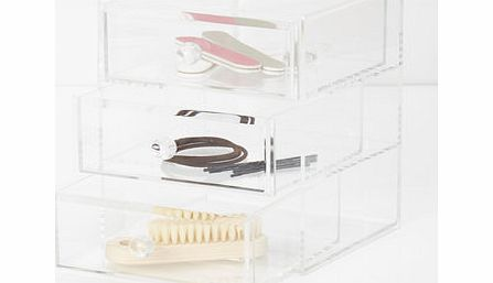 Clear acrylic 3 tier jewellery holder, clear