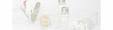 Clear acrylic 4 compartment drawer tray, clear
