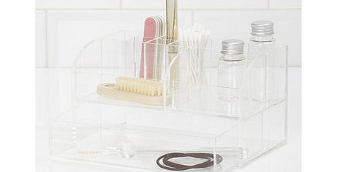 Clear acrylic make up holder with drawer, clear