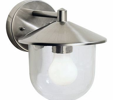 Clovelly outdoor wall light, stainless steel
