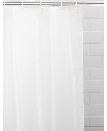 Cream Solitaire Shower Curtain, cream 1941890005