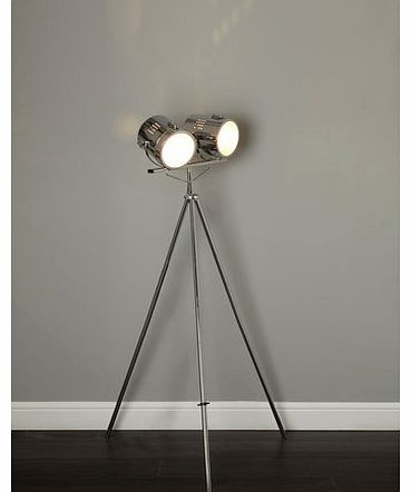 Giles camera floor lamp, chrome 9783430409