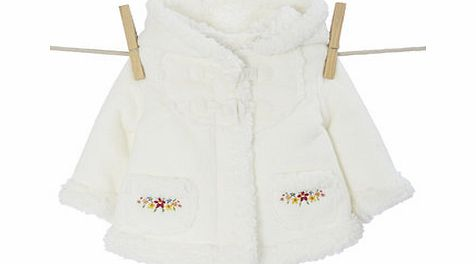 Bhs Girls Baby Girls Floral Embroided Bonded Jacket,