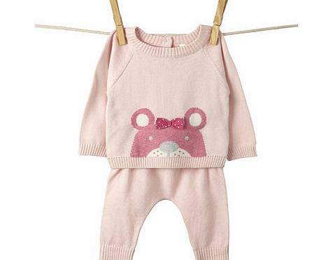 Bhs Girls Baby Girls Knitted Top and Bottoms Set,