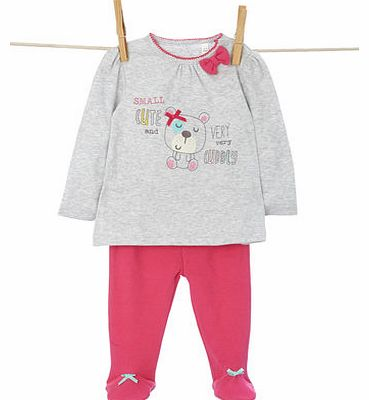 Bhs Girls Baby Girls Long Sleeved Top and Crawler