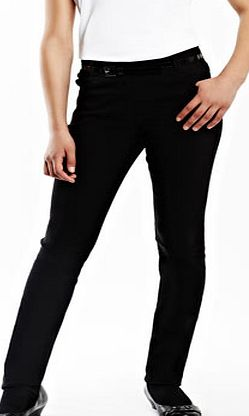 Girls Black Tammy Skinny Fit Belted Jeans Style