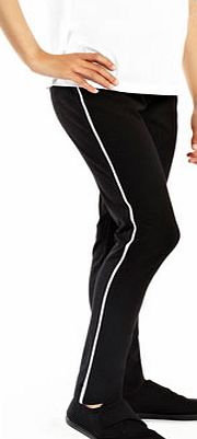 Girls Girls Black School Leggings, black