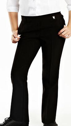 Girls Junior Girls Black School Trousers with