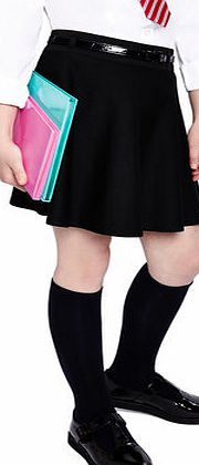 Girls Tammy Black Belted Jersey School Skater
