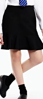 Girls Tammy Girls Black Fluted School Skirt,