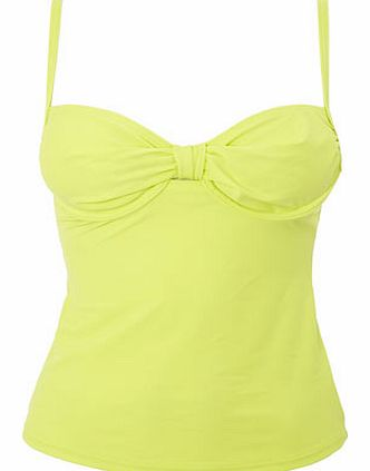 Bhs Great Value Chartreuse Tankini Top, green