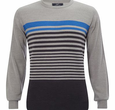 Grey Stripe Supersoft Jumper, Grey BR53A01EGRY