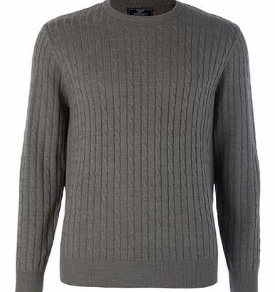 Grey Supersoft Cable Knit Jump, Grey BR53A03FGRY