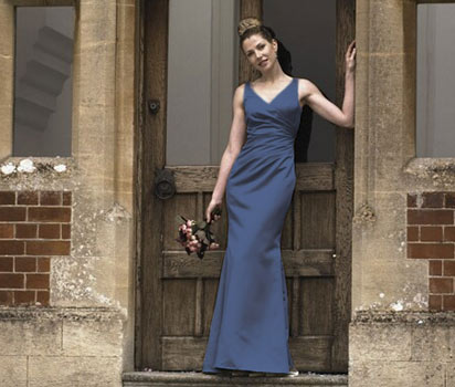 Hermione kingfisher blue tafetta dress