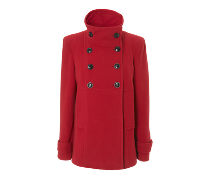 Italian wool blend military-esque coat