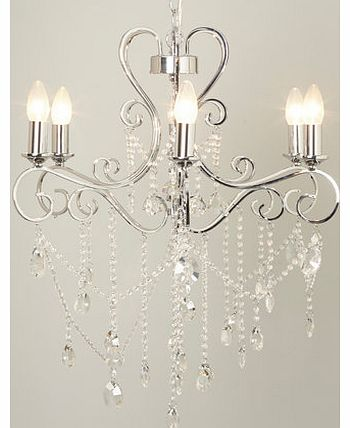 June Chandelier, chrome 9781850409