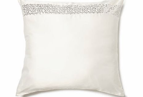 Kylie at Home Safia Oyster Square Cushion,