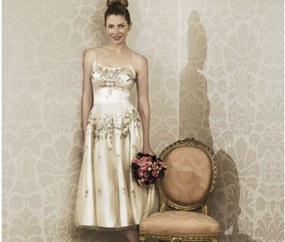 Lavinia champagne beaded dress