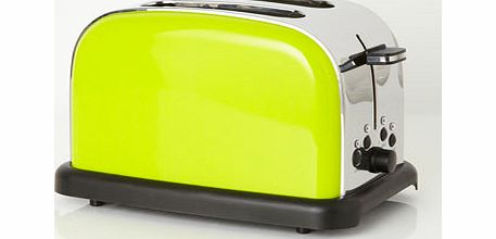 Lime Essentials 2 Slice Toaster, lime 9544416253