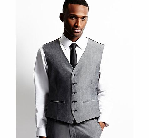 Limehaus Grey Two Tone Waistcoat, Grey BR64B12EGRY