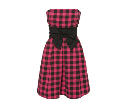 Lumberjack bow prom dress