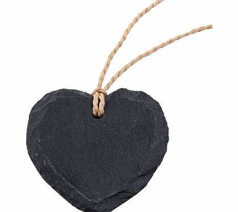 Bhs Naturals slate set of 4 heart shaped name tags,