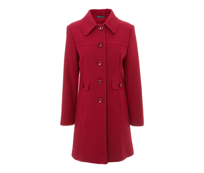Peter pan collar crombie style coat