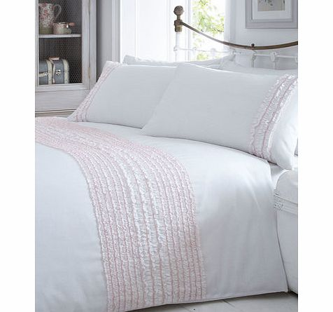 Pink Ruffle Bedding Set by Vintage Boutique,