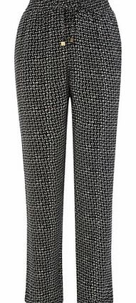 Printed Tapered Trousers, black 2206838513