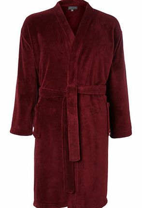Red Soft Touch Dressing Gown, Red BR62G01DRED