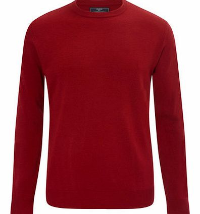 Red Supersoft Crew Neck Jumper, Red BR53A05FRED