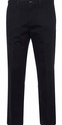 Regular Fit Navy Chinos with Stretch, Blue