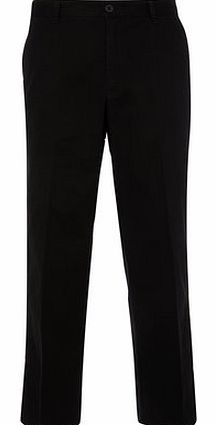 Relaxed Fit Black Chinos, Black BR58R01FBLK