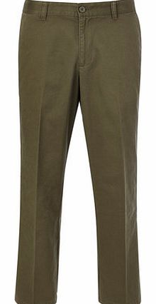 Relaxed Fit Khaki Chinos, Green BR58R01FGRN