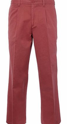Rosewater Pleat Front Chinos, Red BR58A05ERED