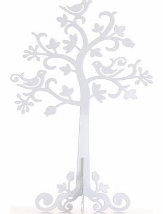 Sass & Belle white metal jewellery tree, white