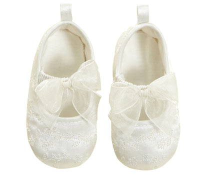 bhs Satin embroidered ballet shoe